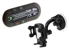 Hands Free Bluetooth Visor Car Kit With Phone Holder SuperTooth Buddy 2.1