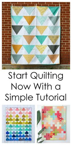 Get started quilting with a simple and free tutorial.  These projects are cute and contain cutting instructions and patterns.  Learn to quilt with a step by step project to brighten your home decor!