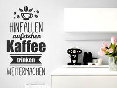 Trend Hinfallen Aufstehen Kaffee Trinken