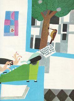 "Illustration by Gianni Ciferri from the italian children's book ""Favole 2000"", 1972"
