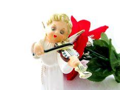 Vintage Christmas Angel White Figurine by SunburyVintageStore