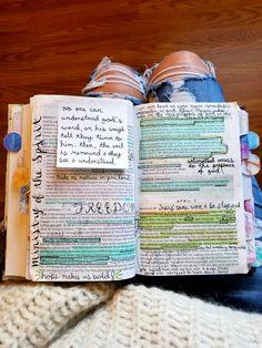 ρiทτєrєsτ: кαℓєyнσggℓє ♡ Bible Notes, My Bible, Bible Art, Bible Verses, Bible Study Notebook, Bible Study Journal, Bibel Journal, Bible Prayers, Study Notes