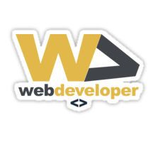 web developer Sticker