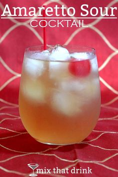 The Amaretto Sour cocktail features the sweet almond taste of amaretto along with the sour of lemon. Its classic combination of sweet and sour has been enjoyed by drinkers for years. This is a light drink, great for occasional or new drinkers.