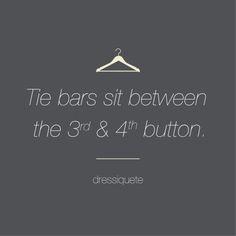 Suit | Etiquette | Tie Bars