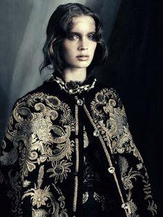 Gothic Opulence Editorials : Vogue Italia Marie Vatch Feature
