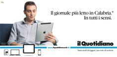 Campagna istituzionale Il Quotidiano della Calabria. Cliente: Finedit srl. Agenzia: Melaò.  Piefrancesco Molinari
