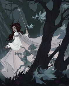 Queen of the Fairies (The Fairy Queen, Queen of Elphame) is a figure from Irish and British folklore, believed to rule the fairies. Character Inspiration, Character Art, Character Design, Beautiful Fairies, Beautiful Artwork, Fantasy Creatures, Mythical Creatures, Fairy Queen, Gothic Art