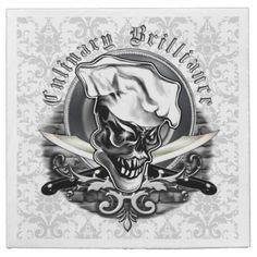 Chef Skull Napkins: Culinary Brilliance Disposable Napkins