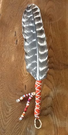 Items similar to turkey feather smudger on Etsy – feather crafts Feather Painting, Feather Art, Feather Design, Indian Feathers, Antler Art, Feather Dream Catcher, Native American Crafts, Turkey Craft, Turkey Feathers