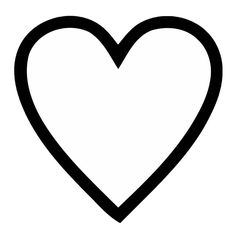 Clipart Library Thick Lined Heart Template Holiday Valentines Day Clipart Broken Heart Emoji, Black Heart Emoji, Black And White Heart, Clipart Black And White, Heart Outline Tattoo, Heart Tattoos, Valentines Day Clipart, Heart Clip Art, Instagram Heart