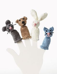 You can make 10 finger puppets with one ball of yarn.