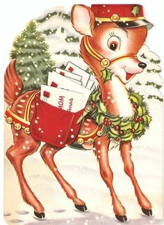 I wish this little deer delivered my mail.