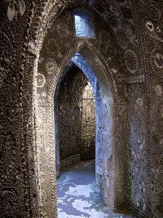 In 1835, young Joshua Newlove fell down a hole and inadvertently discovered Margate's Shell Grotto. Seventy feet of underground tunnels lead to a chamber decorated with arcane symbols made entirely from sea shells. And the purpose of a cave studded with over four million shells mosaicked into phalluses, stars and flowers? Nobody really knows.