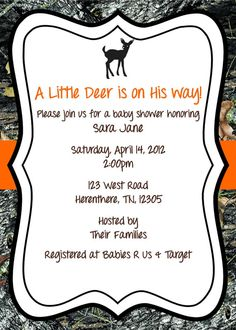 Mossy Oak Baby Shower Invitation Deer By WhateverIs On Etsy