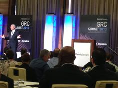 "MetricStream GRC Summit 2013 at the Mandarin Oriental Hotel in Las Vegas – General Colin Powell, USA (Ret.) during his keynote on ""Thrive on Risk"""