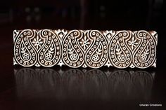 Indian Hand Carved Wood Block Stamp Paisleys by charancreations, $25.00