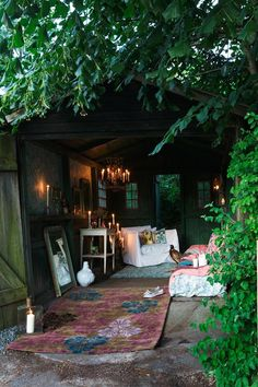 Converted shed/garage to outdoor chill/relax room - love this!