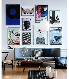 Fem knep för att hänga dina favoriter på väggen