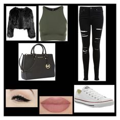 """Winter"" by maria-beatrizinha ❤ liked on Polyvore featuring Miss Selfridge, Anatomy Of, Converse, Disturbia, Onzie and Michael Kors"