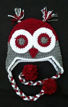 Items similar to Ohio State Baby Hat Winter Owl Animal Hat Toddler on Etsy Crochet Coat, Crochet Beanie, Crocheted Hats, Animal Hats, Owl Animal, Crochet For Boys, Crochet Baby, Ohio State Crafts, Amigurumi