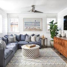 home interior design living room Cozy Living Rooms, Home Living Room, Living Room Furniture, Living Room Designs, Living Spaces, Basement Furniture, Furniture Ideas, Living Room With Rug, Room And Board Living Room