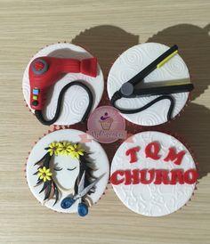 Cupcakes de peluqueria y estilista. Cupcake mensaje de amor