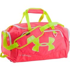 Neon Pink & neon Yellow Under Armour Duffel Bag.