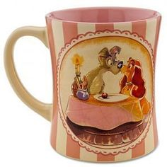 Lady and the Tramp Mug/Cup Disney Store 25th Anniversary.  $24.99