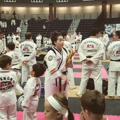 Ms Freire in action supporting the Tiger competition. .ty. @atamartialartsedgewood #friends #martialarts #skills #honor #family