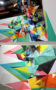 I would want to use this origami paper folding technique to make a mural and a typeface for my experimental typeface project.