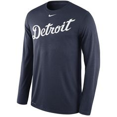 #Valentines #AdoreWe #Fanatics.com - #Nike Detroit Tigers Nike Legend Wordmark 1.6 Long Sleeve Performance T-Shirt - Navy - AdoreWe.com