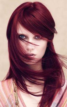 Marsala hair color for light skin 2016