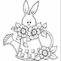 disegni pasqua colorare coniglio