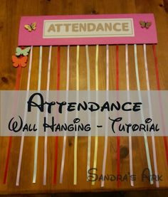 Attendance Wall Hanging Tutorial for Sunday School or Children's Church at Sandra's Ark: I Love Crafts - Housework/Funwork 36 & Things I Love #10 http://sandrasark.blogspot.co.uk/2014/10/i-love-crafts-houseworkhomework-36.html