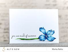 made of awesome card by Marika Rahtu