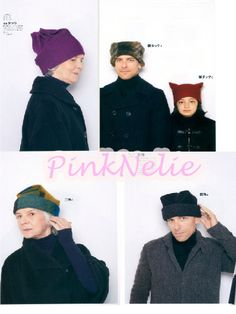 To Make Hats with Square Fabric Japanese Craft Book di PinkNelie