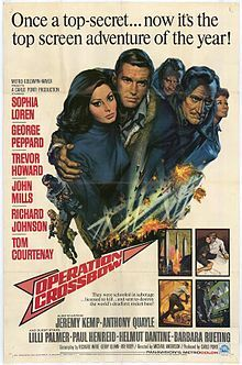 Operation Crossbow Action-packed story of a small group of military agents who are ordered to blow up a secret Nazi missile facility during WWII. Fast-paced explosive thriller stars George Peppard, Trevor Howard, John Mills and Sophia Loren. Old Movie Posters, Classic Movie Posters, Cinema Posters, Movie Poster Art, Classic Movies, Old Movies, Vintage Movies, Force Movie, Tom Courtenay