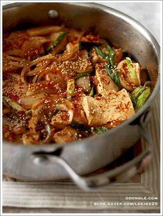 매운 무 두부찜 Healthy Dishes, Healthy Eating, Best Korean Food, Korean Side Dishes, K Food, Light Recipes, No Cook Meals, Asian Recipes, Meal Planning