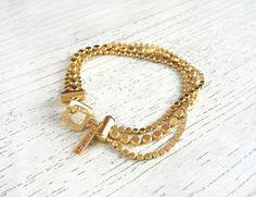 Bracelet élégance disque en or bijoux de mariage accessoire