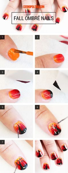 Nail Art How-To: Fall Ombré Nails