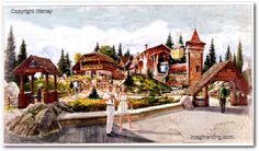 Artwork for the Fantasyland Skyway Station at the Magic Kingdom in Florida