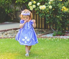 Sophia the First Inspired dress/costume/Disney outfit  on Etsy, $36.00