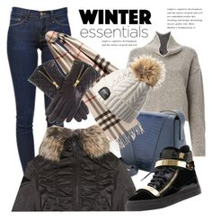 """""""Show Off Your Winter Wardrobe Staples"""" by janephoto ❤ liked on Polyvore featuring adidas Originals, Vince, Frame Denim, Burberry, Giuseppe Zanotti, women's clothing, women's fashion, women, female and woman"""