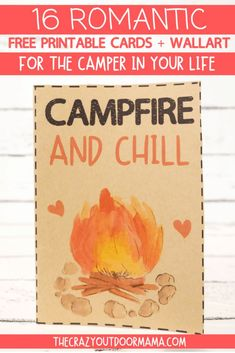 9 Most Romantic Camping Gifts + 19 FREE Camping Valentine Printables! Perfect ideas for boyfriends, girlfriends husbands or wives who love camping! Romantic camping quotes on pretty wall art + some gifts that will get the mood going at the next camp trip! Free Printable Cards, Printables, Romantic Camping, Camping Gifts, Rv Camping, Camping Coffee, Camping With Kids, Family Camping, Makeup
