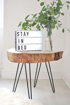 DIY I Tree slice hairpin table. Decor, Wood Slices, Diy Furniture, Diy Tree, Decor Inspiration, Home Decor, Wood Diy, Rustic Coffee Tables, Wooden Decor