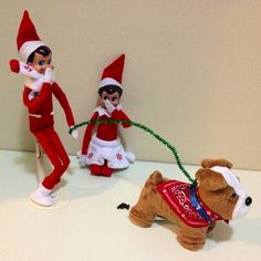 Elf on the Shelf has a mess to clean up....What fun is that??