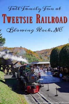 Tweetsie Railroad is a family oriented railroad and Wild West theme park in the Blue Ridge Mountains between Boone and Blowing Rock, North Carolina. As the Carolinas' original family theme park, it is full of old-fashion fun and is an ideal way to spend a fall day.