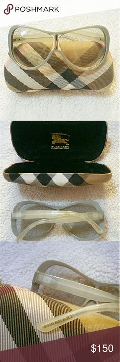 "AUTHENTIC BURBERRY Unisex Sunglasses 100% authentic, NWOT, no signs of wear! Serial number engraved into top of right lens as proof of authenticity.  If you'd like the model #: please comment below and I'd be happy to assist, it is also shown in the pictures above. Original signature ""Burberry Plaid"" hard case included! WELL WORTH PRICE! ALL OFFERS WELCOME, AND HIGHLY CONSIDERED! (all items purchased full listed price will receive free gift! Eeek) Burberry Accessories Sunglasses"