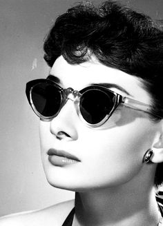 audrey hepburn with vintage sunglasses photographed by angus mcbean. zazumi.com